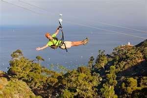 Catalina Island - Travel Magazine photo shoot of the Zip Line through the Island.