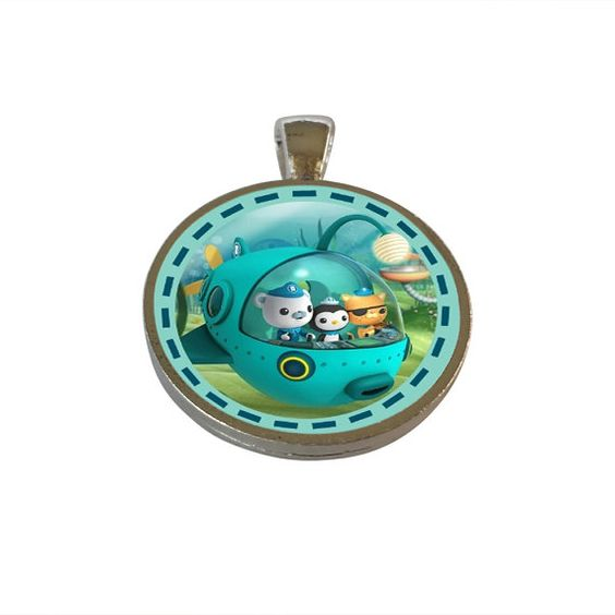 Octonauts Inspired  Pendant, Party Favor, Birthday Gifts! Holiday Ornament, Necklace, Backpack Tag