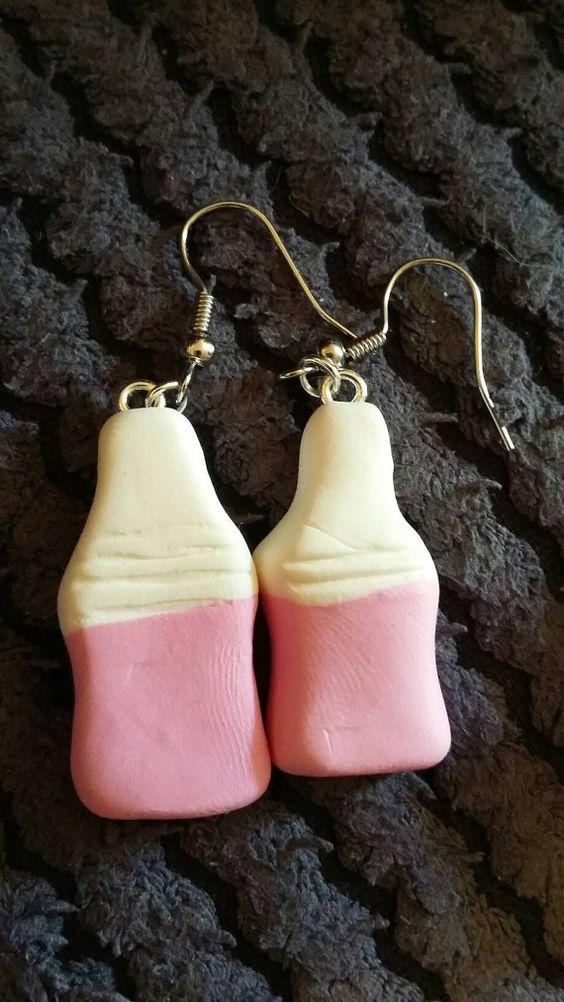 Handmade Milk Bottle pair of earrings by Cazmade on Etsy