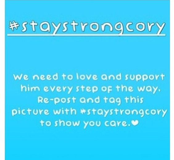 #staystrongcory