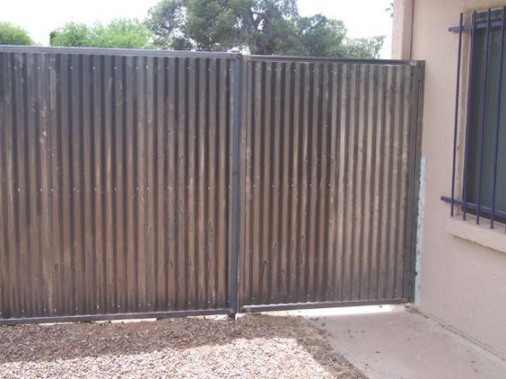 Home Corrugated Metal Fence Panels With Corrugated Steel
