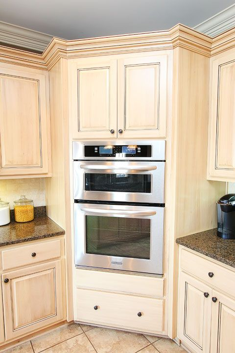 New house tour kitchen update house tours combination for Wall oven microwave combo cabinet