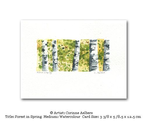 This Miniature Art Card Is Blank Inside Title Forest In Spring