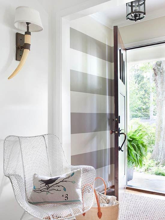 grey striped wall