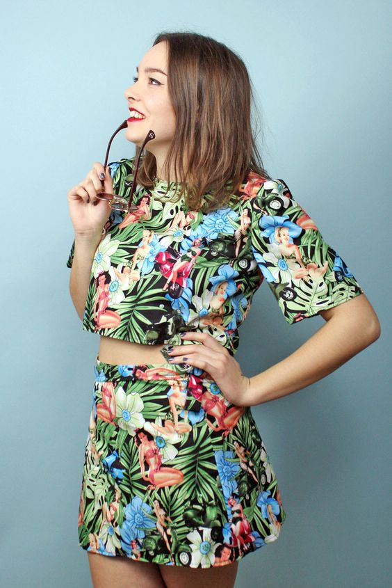 Tropical Pin Up Co-Ord