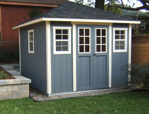 hip roof garden shed 8x10 outside living pinterest backyard pool houses and exterior