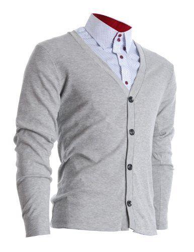 FLATSEVEN Herren Slim Fit Stilvolle Button up Strickjacke (C100) FLATSEVEN, http://www.amazon.de/dp/B009NVOMMY/ref=cm_sw_r_pi_dp_eaUNtb0HW6YJ3