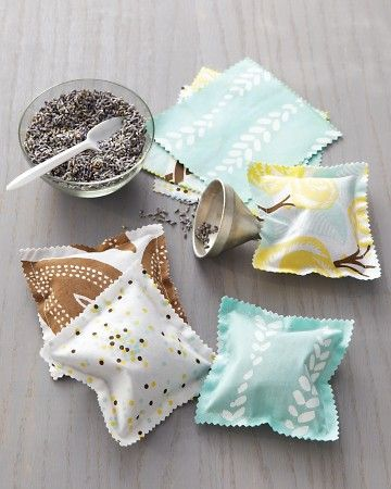 easy sewing projects for beginners - SCENTED SACHETS