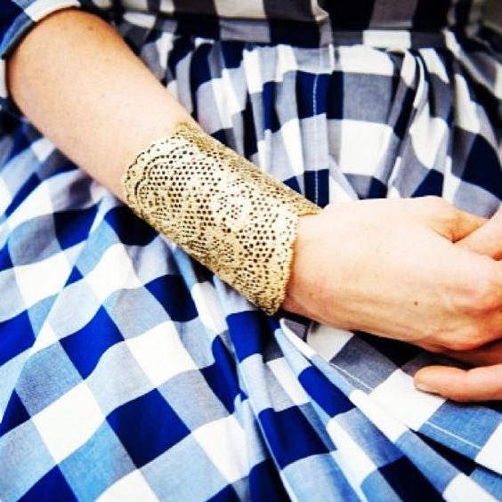 Shop the look! #officestreetstyle Aurelie Bidermann vintage lace cuff on M'O now!