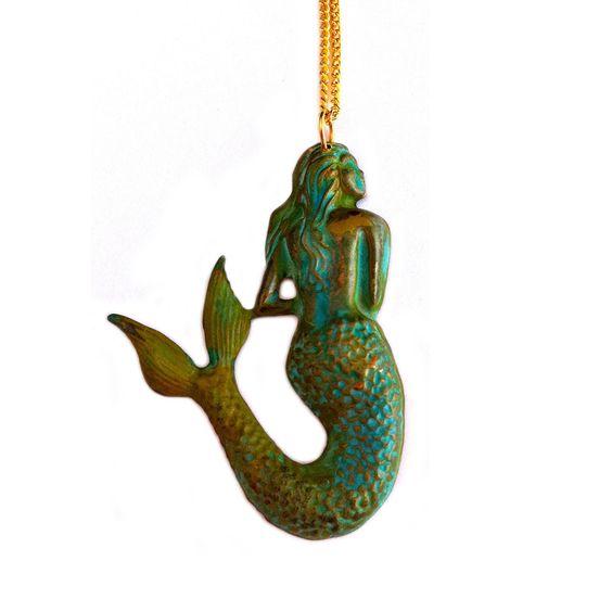 Patina Mermaid Necklace