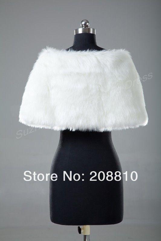 Retail Warm Faux Fur Ivory Bolero Wedding Wrap Shawl Bridal Jacket Coat Accessories Free Shipping 5758-in Wedding Jackets / Wrap from Apparel & Accessories on Aliexpress.com