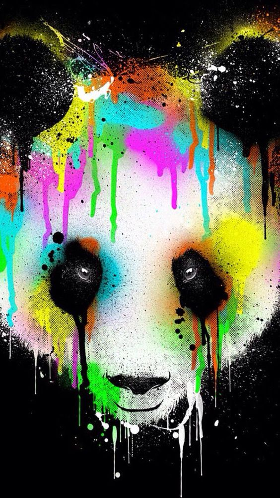 This picture shows the significance of the art work of the panda bear and it's true color.