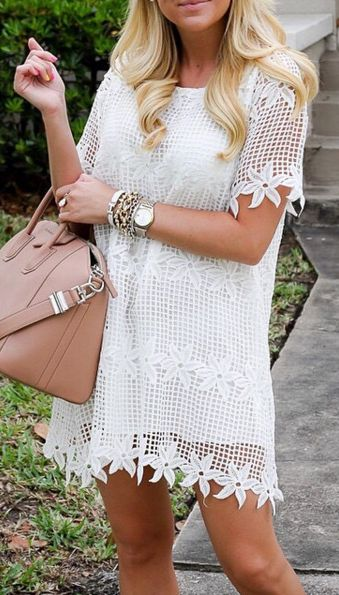 Summer crochet lace dress