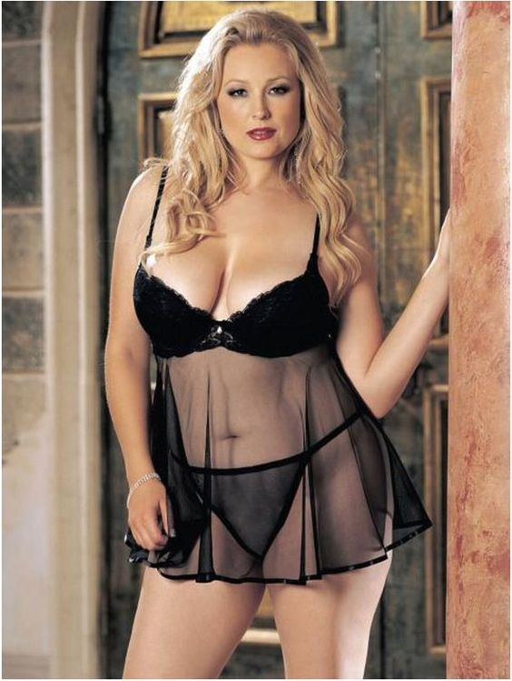 blonde plus size female nodels | Plus Size Lingerie for Attractive Women Plus Size Sexy Lingerie ...