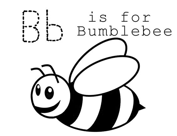 B is for Bumblebee Coloring Page