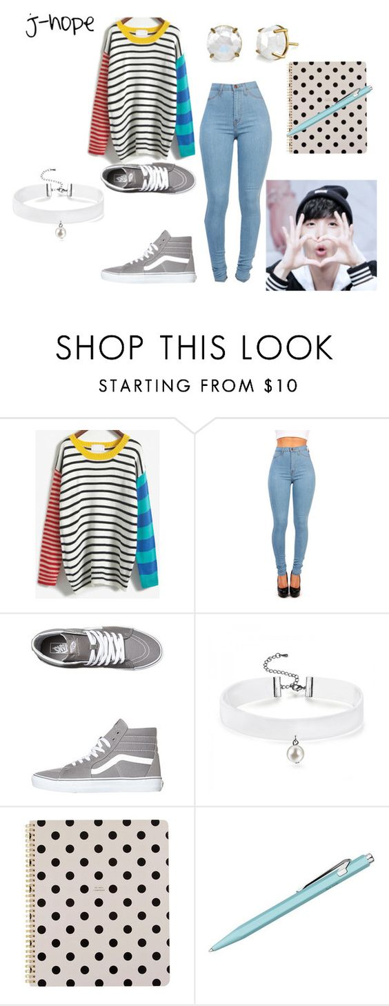 """song writing with j-hope"" by taekookie ❤ liked on Polyvore featuring Vans, Kate Spade, Irene Neuwirth and bts"