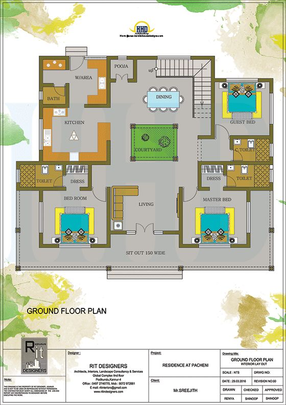 Kerala Traditional Home With Plan Budget House Plans Kerala House Design Floor Plan Design Simple chettinad house plan