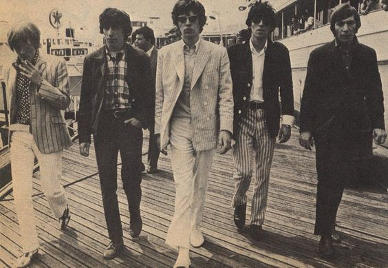 Rolling Stones Mick Jagger, Keith Richards, Brian Jones, Charlie Watts, Bill Wyman Promotion for Aftermath US album 1966 New York