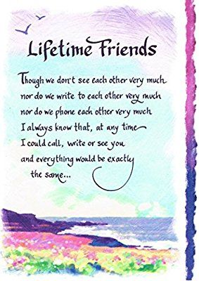 Blue Mountain Arts Classic Keepsake Greeting Card Bm2036 Lifetime Friends A Friend Birthday Quotes Birthday Quotes For Best Friend Lifetime Friends Quotes