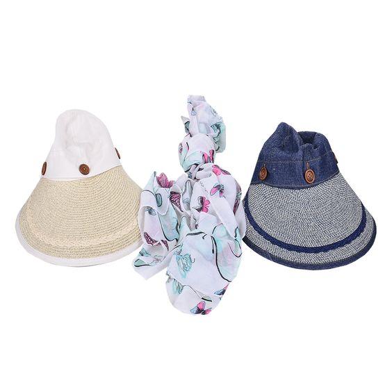 kot ,krem hasır şapka ve pareyo