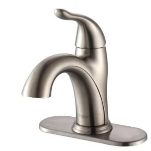 boys bathroom Kraus Arcus Single Hole 1-Handle Bathroom Faucet in Satin Nickel-FUS-1011SN at The Home Depot