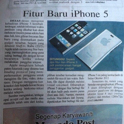 Apple / iPhone 5? iphone-5-rumors apple