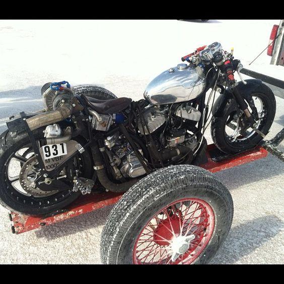 Bonneville Speed Week 2012 ~ turbo Harley ~ Return of the Cafe Racers