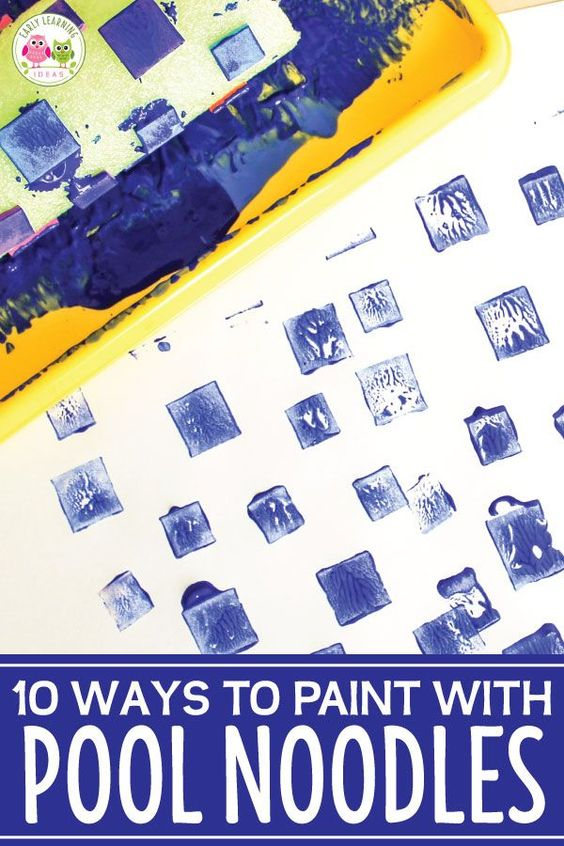 Easy Art For Kids How To Paint With Pool Noodles Easy Art For Kids Art For Kids Simple Art