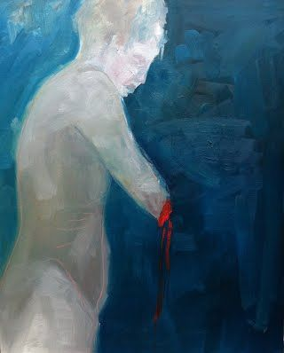 Broken.   2008.    Oil on canvas.    Melanie Henneberg      ………………………………………………………............................................... Keywords: woman arm cut bleeding painting broke art