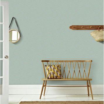 Graham & Brown vliesbehang 100515 textuur aqua blauw - goud 10 meter | Behang | Behang | GAMMA