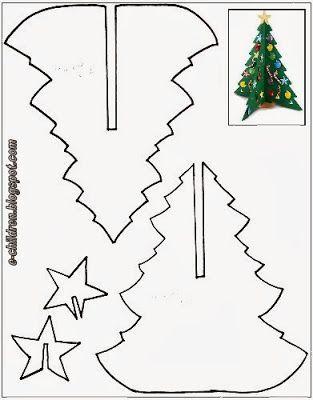 Los Ninos Xristoygenniatikes Kataskeyes Me Xristoygenniatika Dentra Christmas Crafts Christmas Tree Template Christmas Diy