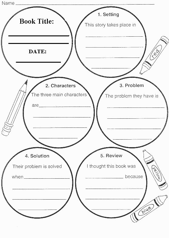 Fiction Book Report Wheel Bottom