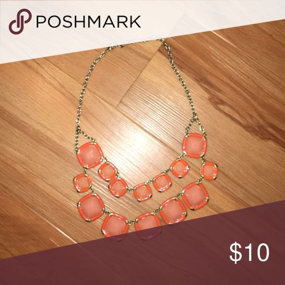 Coral Statement Necklace Statement Necklace from Francesca's Jewelry Necklaces