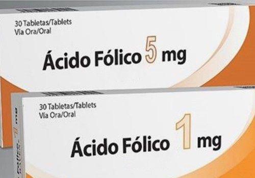 Para que sirve tomar pastillas de acido folico