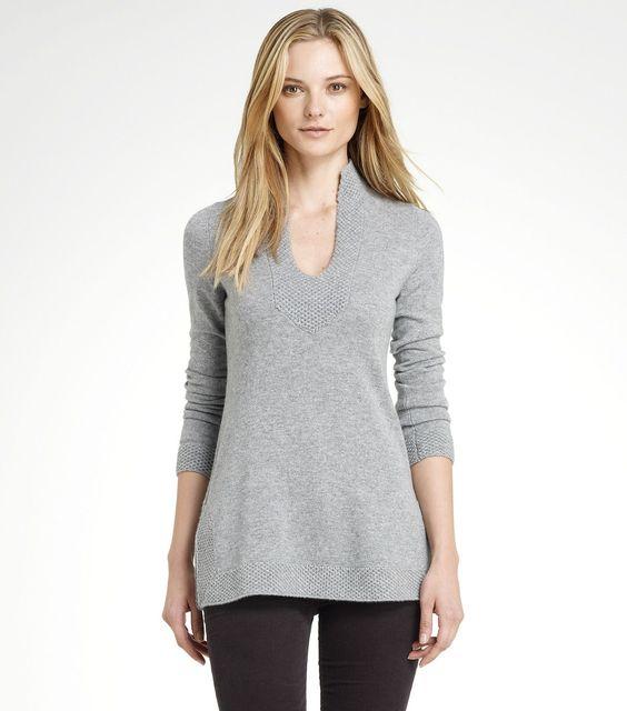 cashmere tunic: Cashmere Tunic, Tory Sweater, Fashion Style, Perfect Tunics, Toryburch Perfect, Tunics Toryburch, Style Fashion