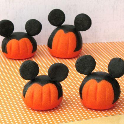 Citrouilles Mickey en pâte à sel