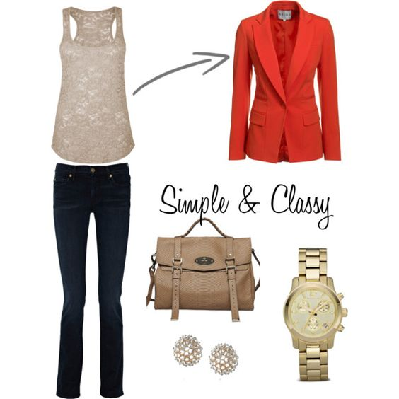 So cute. Red blazer is a must.
