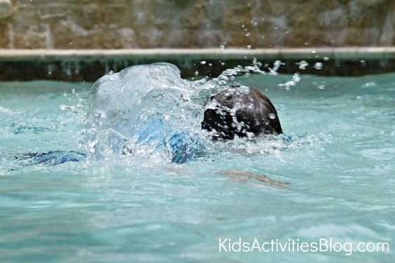 Swimming activities for kids- watch the Olympic time trials and then go swimming!