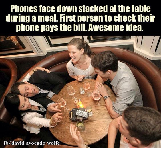 Cell phones and the dinner table
