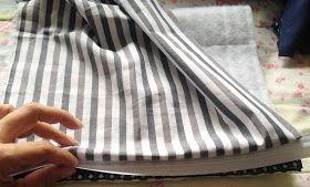 PASSO À PASSO COMO FAZER UMA NECESSAIRE MASCULINA           MATERIAIS NECESSÁRIOS:     Tecidos estampados, com estampas neutras, listras, x...