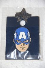 Universal Studios Marvel Disney Captain America Face Trading Pin New in Pack