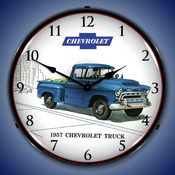 1957 Chevrolet Truck Led Lighted Wall Clock 14 X 14 Inches Chevrolet Trucks 1957 Chevrolet Pickup Trucks