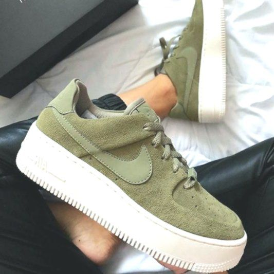 Nike Air Force 1 khaki green necessarily a fall favorite ...