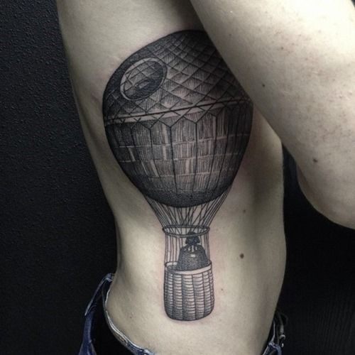 Death Star Tattoo Small: Amazing Death Star Tattoo Design