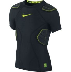 Nike youth pro combat hyperstrong 3 0 4 pad football shirt for Nike youth football t shirts