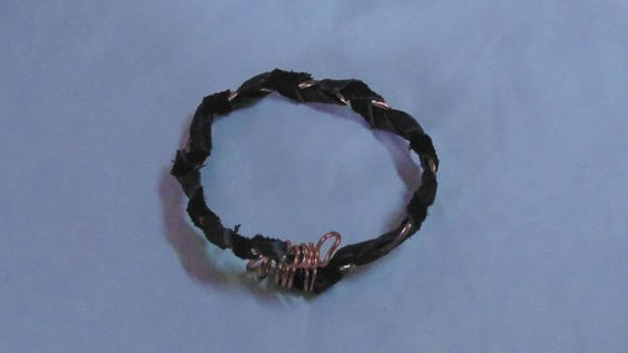 Leather and copper plait braclet by HelensArtsCreatifs on Etsy