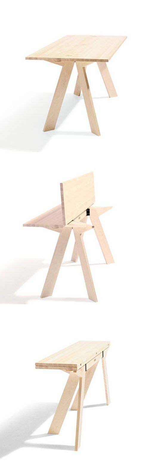 Folding expanding tables furniture design folding furniture and smart furniture - Smart furniture for small spaces handy solutions ...