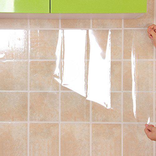 Getmore7 Kitchen Oil Proof Sticker Kitchen Backsplash Wallpaper