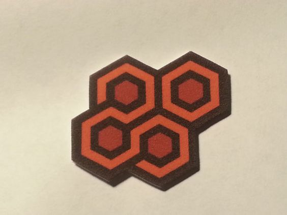 Overlook Hotel Carpet Sample Pin The Shining Orange