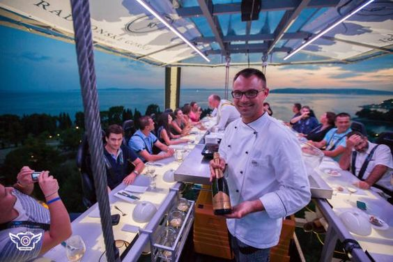 This Belgian-based company hosts meals all over the world, from Kuala Lumpur to Copacabana Beach to Athens. They consist of five course meals on a open-sided platform dangling from a crane 160 feet in the air (don't worry, there are seatbelts). With views of from the Acropolis to Downtown Los Angeles, Dinner in the Sky takes dining to new heights.
